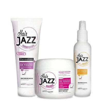 Komplekts: HAIRJAZZ šampūns, losjons, maska – stimulē matu augšanu !